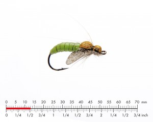 J:son Caddis Pupa 3 Apple Green