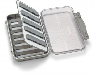 Medium 7-Row Waterproof Fly Box with Flip Page and Clear Lid