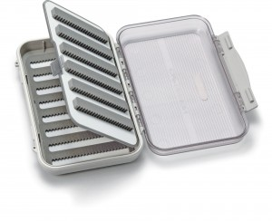 Medium 8-Row Waterproof Fly Box with Flip Page and Clear Lid
