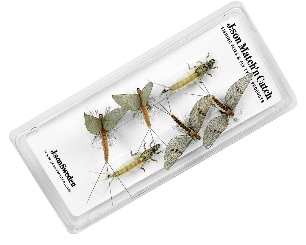 J:son flies accessories gift tins hatch packs sweden Gift Tin Hatch Pack-Green Drake