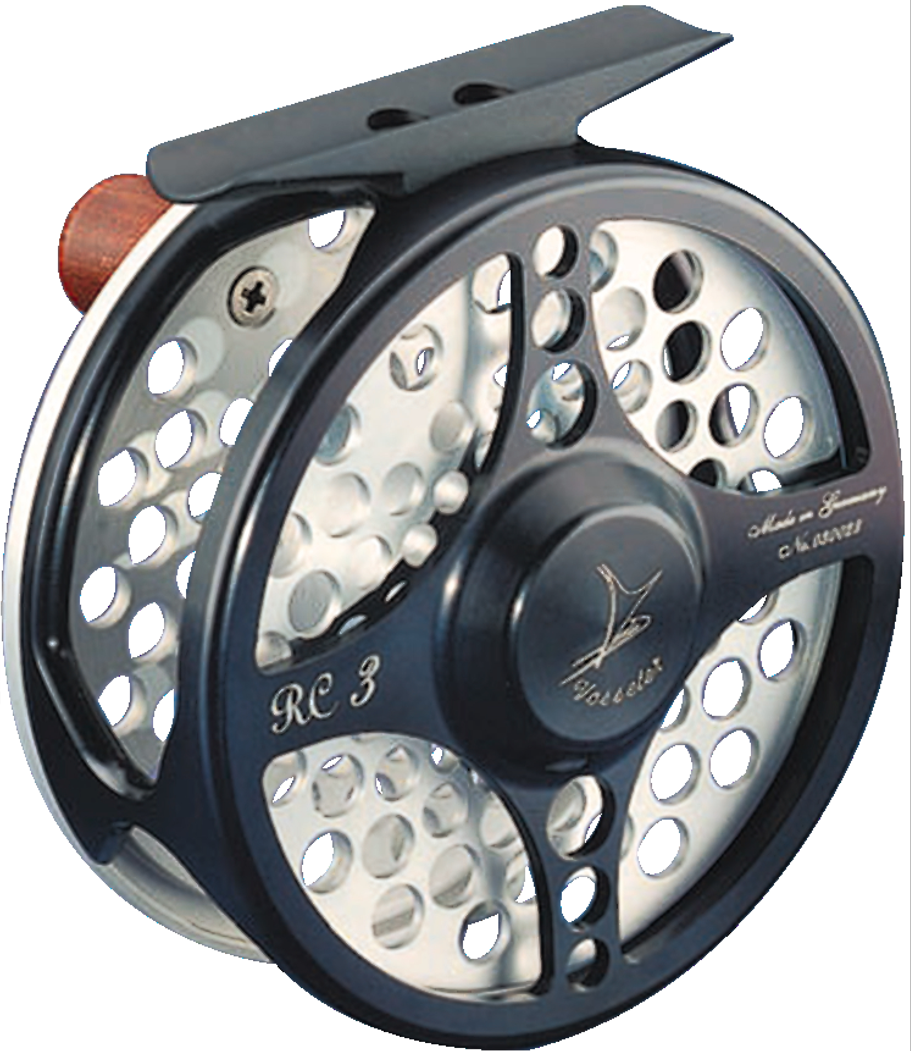 VOSSELER REEL RC1 -BLACK WITH SILVER