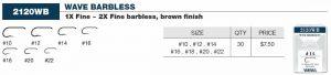 Varivas Wave Barbless (Brown) Sizes 22-10