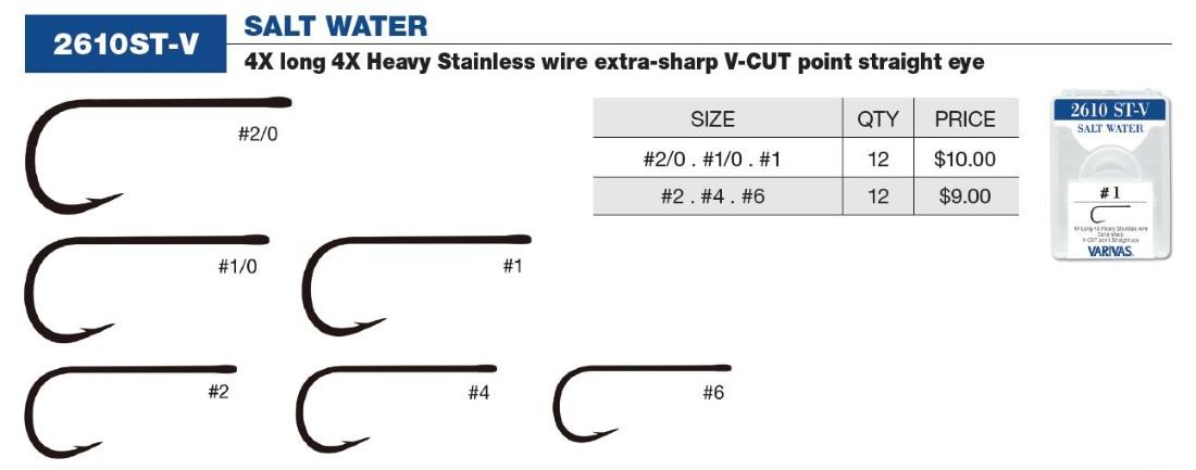 Varivas 4X Salt Water (Stainless) 06-2/0