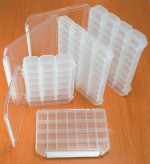 Meiho flybox fly box waterproof system clear compartment pizza