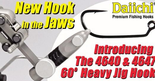 Daiichi 4640 & 4647 - 60 Degree Heavy Jig Hook